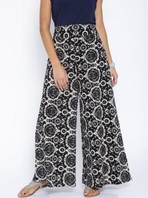 Rigoglioso Regular Fit Womens Black, White Trousers