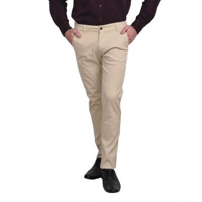 Ruace Slim Fit Men's Beige Trousers