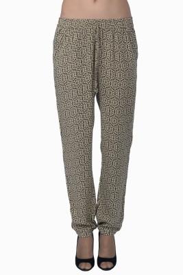 Miway Regular Fit Women's Brown Trousers