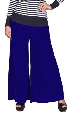 Jugniji Slim Fit Women's Blue Trousers