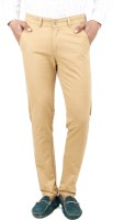 Uber Urban Slim Fit Mens Beige Trousers