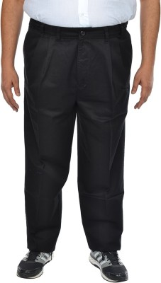 ASABA Regular Fit Men's Black Trousers