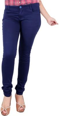 FCK-3 Slim Fit Women's Blue Trousers