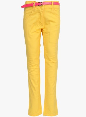 612 League Regular Fit Girl's Yellow Trousers