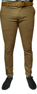 Damler Slim Fit Men's Gold Trousers