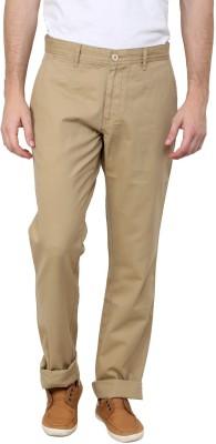 Cotton County Premium Slim Fit Men's Brown Trousers