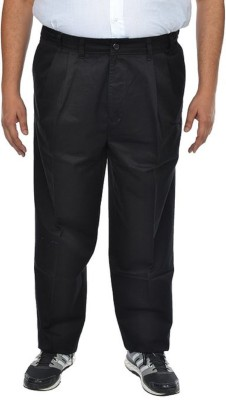 Shiksha Regular Fit Men's Black Trousers