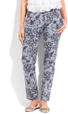 Flying Machine Regular Fit Women's Grey Trousers