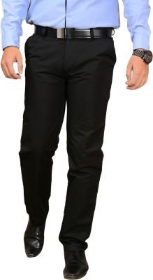 Sensor Regular Fit Men's Black Trousers