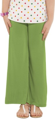 Go Colors Regular Fit Girl's Green Trousers
