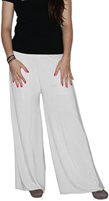 Ace Regular Fit Women's White Trousers