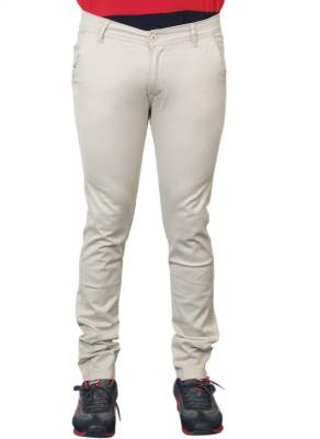 Paranoid Slim Fit Men's Cream Trousers