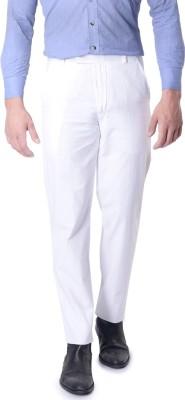 SKOOKIE Regular Fit Men's White Trousers