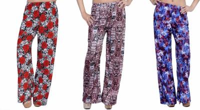 La Fem Regular Fit Women's Multicolor Trousers