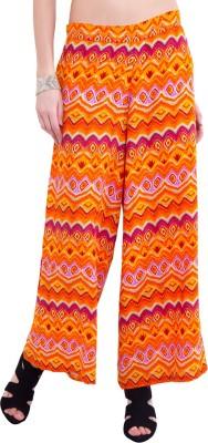 Saiarisha Regular Fit Women's Orange Trousers