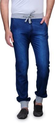 Wear Your Mind Slim Fit Men's Denim Dark Blue Trousers