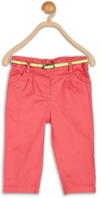 612 League Regular Fit Baby Girl's Red Trousers