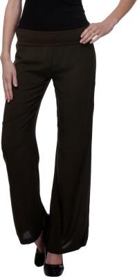 Purys Regular Fit Women's Green Trousers