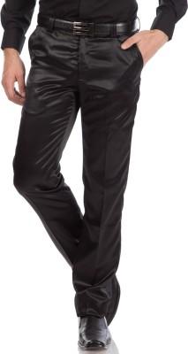 Provogue Regular Fit Men's Black Trousers