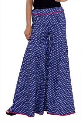 Hobz Regular Fit Women's Blue Trousers