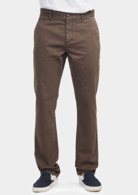 Bhane Regular Fit Men's Brown Trousers