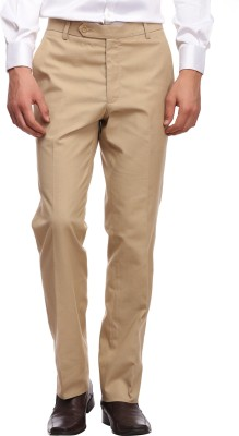 Luxurazi Slim Fit Men,s Beige Trousers