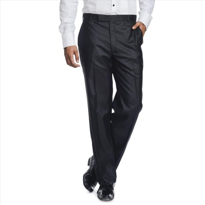 Adam In Style Regular Fit Men's Black Trousers