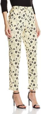 Atayant Regular Fit Women's Cream Trousers