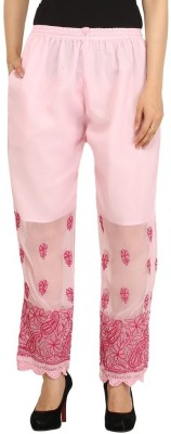 Indiankala4u Regular Fit Women's Pink Trousers