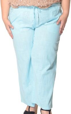 Trendy Divva Regular Fit Women's Light Blue Trousers