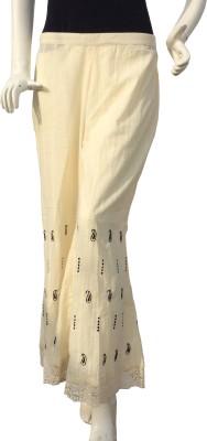 Jupi Regular Fit Women,s White, Black Trousers