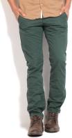 Breakbounce Slim Fit Mens Green Trousers
