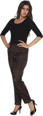 Fast n Fashion Regular Fit Women's Black, Brown Trousers at flipkart