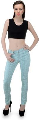 FIBRE WORLD Slim Fit Women,s Green Trousers
