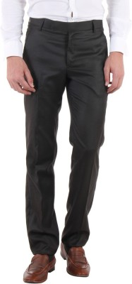 Routeen Slim Fit Men,s Brown Trousers