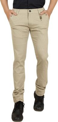 Private Image Slim Fit Men's Cream Trousers