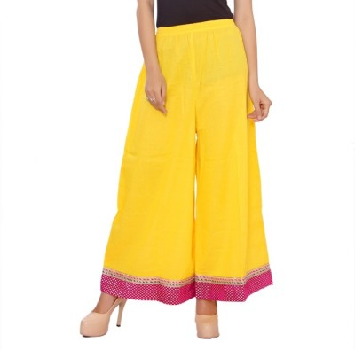 Ceil Regular Fit Women's Yellow Trousers