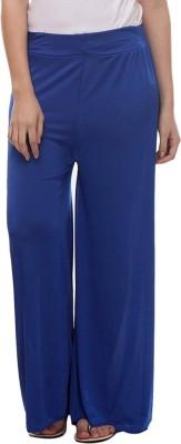 TeeMoods Regular Fit Women's Blue Trousers