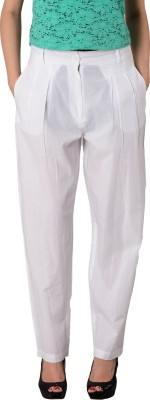 House of Tantrums Regular Fit Women,s White Trousers