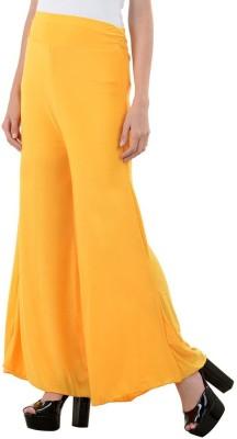 Unitedway Regular Fit Women's Yellow Trousers