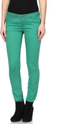 Only Regular Fit Women's Green Trousers at flipkart