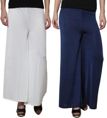 Both11 Regular Fit Women's Dark Blue, White Trousers