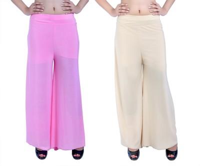 Ajaero Regular Fit Women's Pink, Gold Trousers