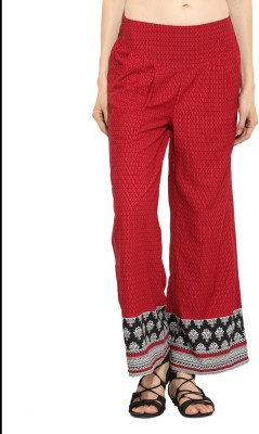 Label VR Regular Fit Women's Red Trousers