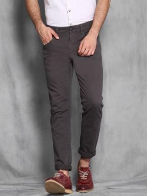 WROGN Slim Fit Men's Grey Trousers
