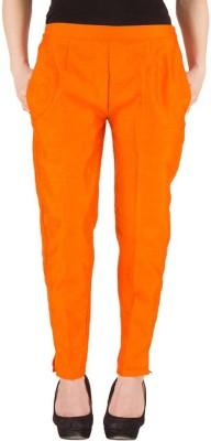 Komal Trading Co Slim Fit Women's Orange Trousers