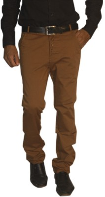 Madcaps Slim Fit Men's Brown Trousers