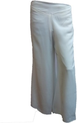 Bvos Regular Fit Women's White Trousers