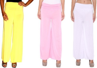 Zadine Regular Fit Women,s Yellow, Pink, White Trousers