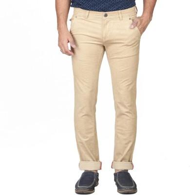 Irony Skinny Fit Men's Cream Trousers